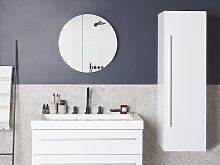 Bathroom Wall Cabinet White MDF 132 x 40 cm with 4