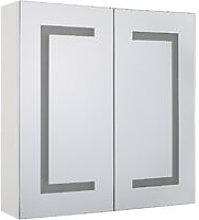 Bathroom Wall Mounted Mirror Cabinet with LED