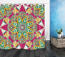 Bathroom Waterproof Fabric Mandala Shower Curtain