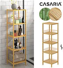 Bathroom Wooden Bamboo Rack Brown Kitchen Shelf 5