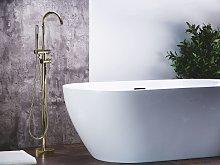 Bathtub Faucet Golden Chrome Freestanding 119 cm