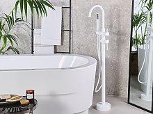 Bathtub Faucet White Matt Chrome Freestanding 119