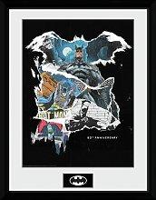 Batman Comic RIP Framed Print Wall Art