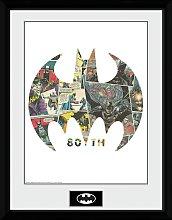 Batman Comic Symbol Framed Print Wall Art
