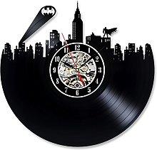 Batman Design Vinyl Record Creative Wall Clock Gif