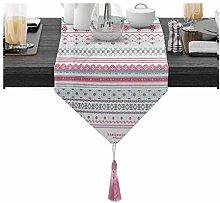 BATOHOME Silver Table Decorations, Pink Linen