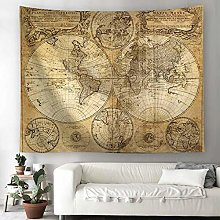 BATOHOME Tablecloth Large, World Map Wall Covering