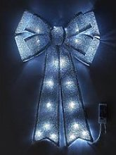 Battery Operated Door Bow Christmas Decoration -