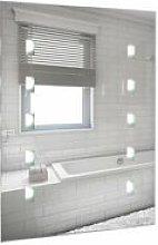 Battery Operated Illuminated LED Bathroom Mirror