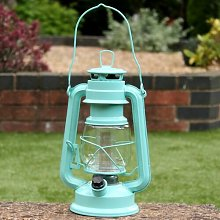Battery Operated LED Hurricane Hanging Lantern Sol