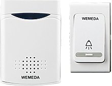Battery-Powered Doorbell Button Door Chime with 38