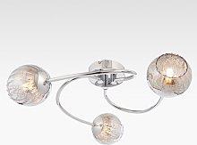 Bay Lighting Chase 3 Arm Semi Flush Ceiling Light,