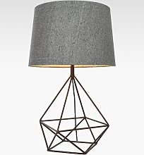 Bay Lighting Delta Table Lamp, Aged Copper