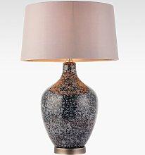 Bay Lighting Esma Glass Table Lamp, Grey