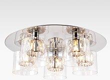 Bay Lighting Nina Crystal Glass Semi Flush Ceiling