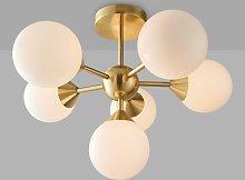 Bay Lighting Riess Glass Semi Flush Ceiling Light,