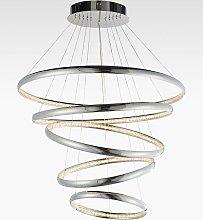 Bay Lighting Spiral LED Large Ceiling Light, Chrome