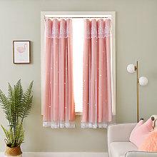 Bay window curtain small European style short