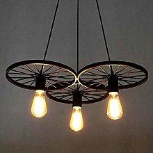 BAYCHEER Loft Stair Style Wheel Pendant Lights