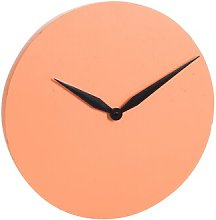 Bayerl 40cm Wall Clock Ebern Designs Colour: Orange