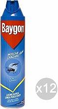 Baygon Set of 12 BluSpray Mosquito Fly Ml 400