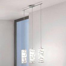 Bayman - 3-bulb pendant light with linear design