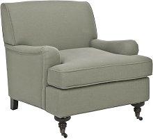 Baynes Armchair Three Posts Upholstery: Grey