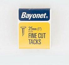 Bayonet Blued Tacks 25mm 40g Pack. Display Of 24