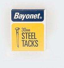 Bayonet Blued Tacks 30mm 40g Pack. Display Of 24