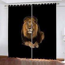 Bbaodan Bedroom Curtains Blackout Animal King &