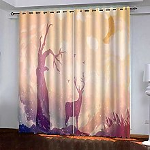 Bbaodan Blackout Curtains Thermal Insulated Eyelet