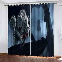 Bbaodan Eyelets Curtains Monster 2Pcs W29 X L65