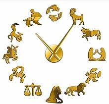 BBNNN 47 inches12 Zodiac DIY Acrylic Wall Clock