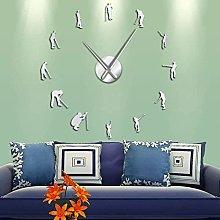 BBNNN AcrylicWall Clock DIY Frameless Large 3D