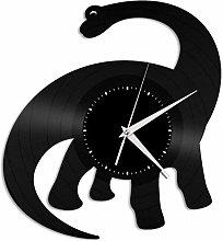 BBNNN Brachiosaurus vinyl wall clock retro vinyl