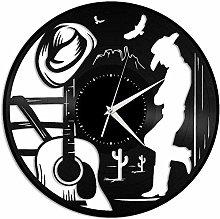 BBNNN Country music vinyl record wall clock home