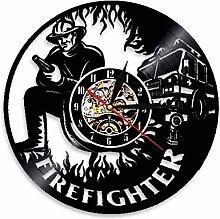 BBNNN Fireman Wall Clock Fire Department