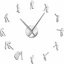 BBNNN Golfers Large DIY Wall Clock Golf Player