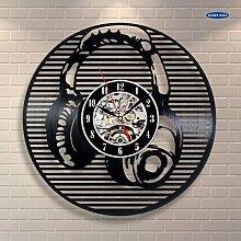 BBNNN Musical Instrument Headset Wall Clock Vinyl