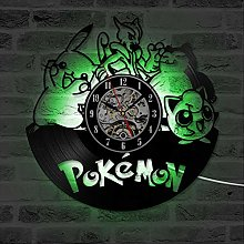 BBNNN Pokemon vinyl record wall clock with kids