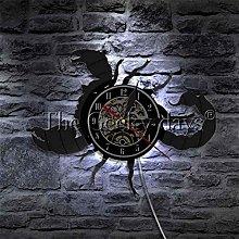 BBNNN Scorpio clock zodiac wall hanging art retro