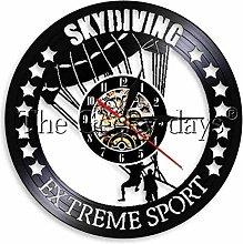 BBNNN Skydiving vinyl clock sports home decoration