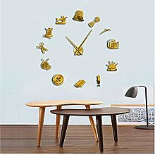 BBNNN Tailor Diy Giant Wall Clock Diy Needlecraft