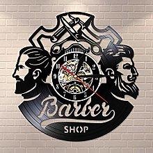 BBNNN Vinyl Wall Clock Barbershop Logo Barbershop