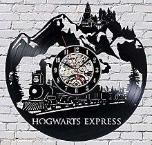 BBNNN Vinyl Wall Clock Hogwarts Express Wall Clock