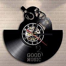 BBNNN Vinyl wall clock monkey listen to music