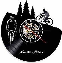 BBNNN Vinyl Wall Clock Mountain Bike Wall Clock
