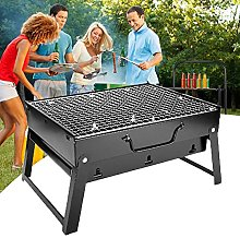 BBQ Barbecue Grill, Foldable Charcoal Stainless