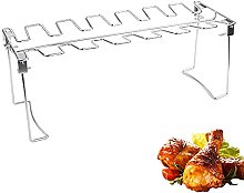 BBQ Beef Chicken Leg Wing Grill Rack 14 Slots