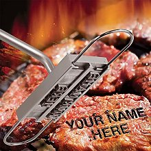 BBQ Branding Iron with Changeable Letters, Steak